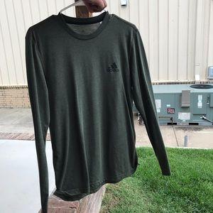 Green Adidas long sleeved shirt